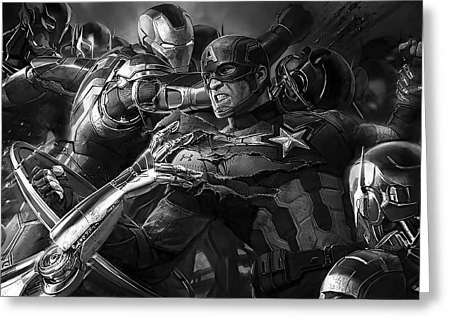 Avengers Collection Greeting Card by Marvin Blaine
