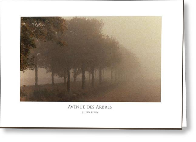 Avenue Des Arbres Greeting Card