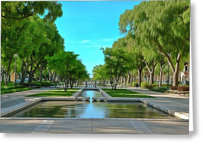 Avenue Jean Jaures Nimes Greeting Card by Scott Carruthers