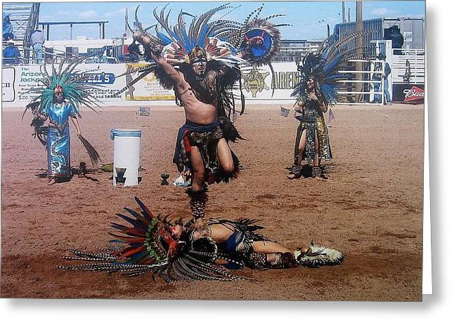 Aztec Indian Performer O'odham Tash Indian Rodeo Casa Grande Arizona 2006  Greeting Card