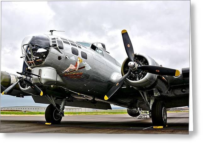 B-17 Bomber Airplane  Greeting Card
