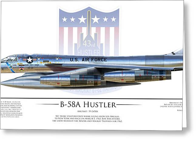 B-58a Hustler 59-2458a Greeting Card by Dale Jackson