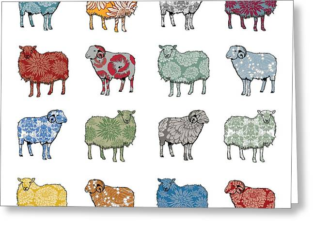 Baa Humbug Greeting Card by Sarah Hough