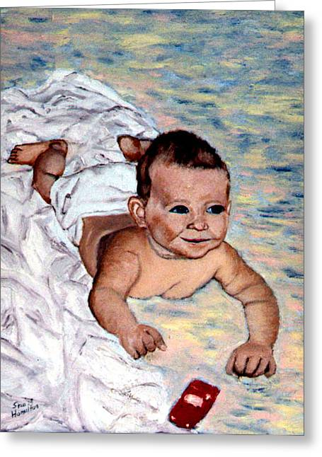 Baby In Heaven Greeting Card by Stan Hamilton