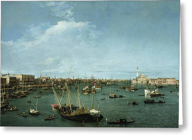 Bacino Di San Marco, Venice Greeting Card by Canaletto