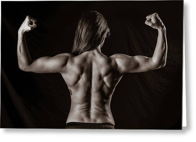 Back Muscles Greeting Card by Jt PhotoDesign