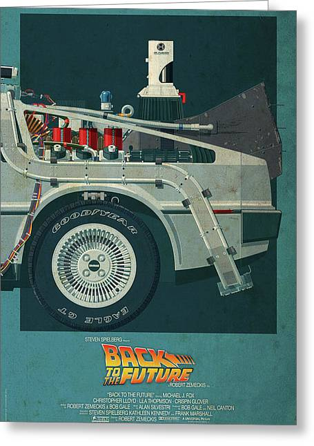 Back To The Future Delorean Part 3 Greeting Card
