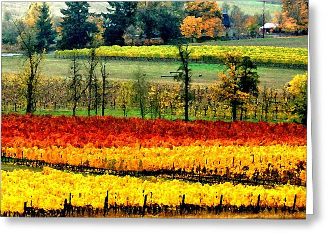 Backroads Greeting Card by Margaret Hood