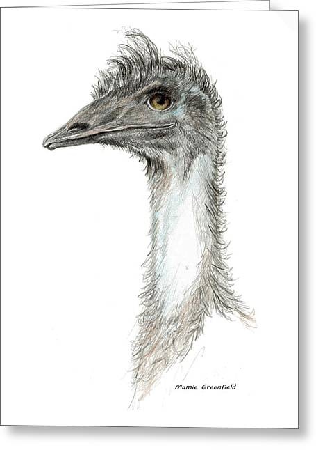 Bad Leroy Brown The Emu Greeting Card