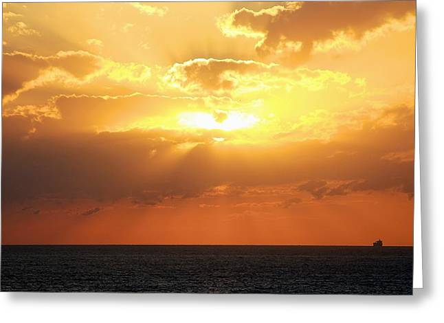 Bahamas Sunset Greeting Card