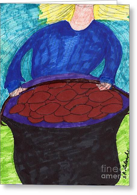 Baked Beans Greeting Card by Elinor Rakowski