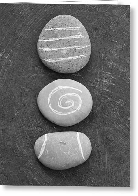 Pebbles Greeting Cards - Balance Greeting Card by Linda Woods