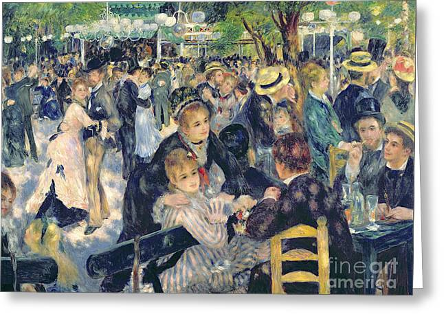 Ball At The Moulin De La Galette Greeting Card by Pierre Auguste Renoir
