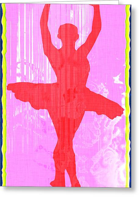 Ballet Dancer Greeting Card by David G Paul