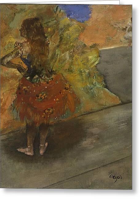 Ballet Dancer Greeting Card by Edgar Degas