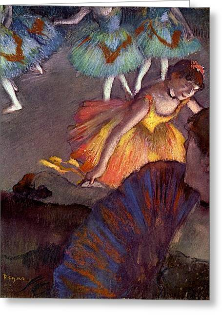 Ballet, Seen From A Box Greeting Card by Edgar Degas