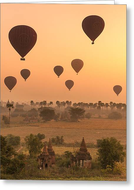 Balloons Sky Greeting Card