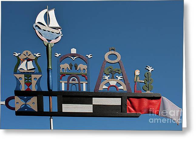 Baltic Windvane Greeting Card by Christian Hallweger