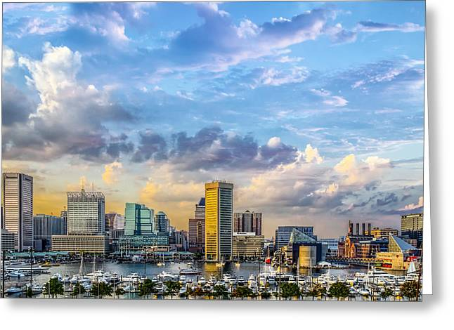 Baltimore Harbor Skyline Greeting Card