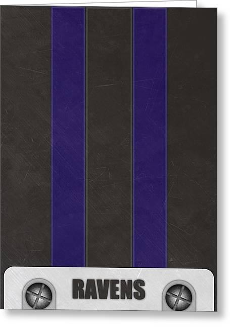 Baltimore Ravens Helmet Art Greeting Card by Joe Hamilton