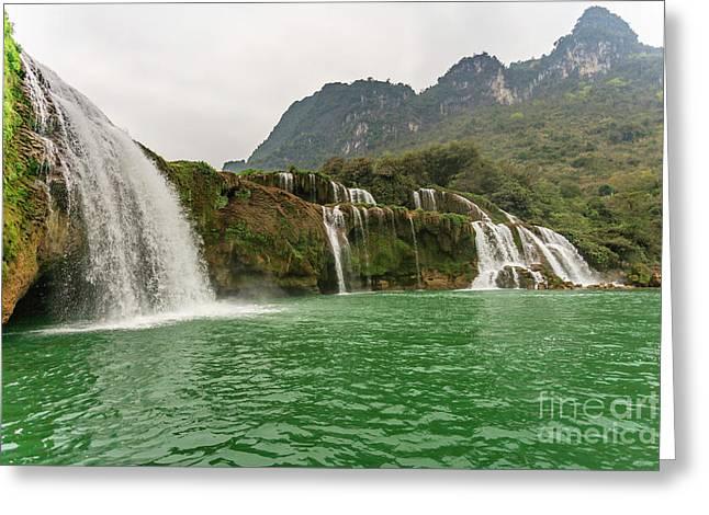 Ban Gioc Waterfall Greeting Card by Aoshi VN