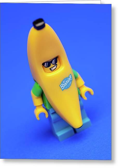 Banana Man Greeting Card by Samuel Whitton