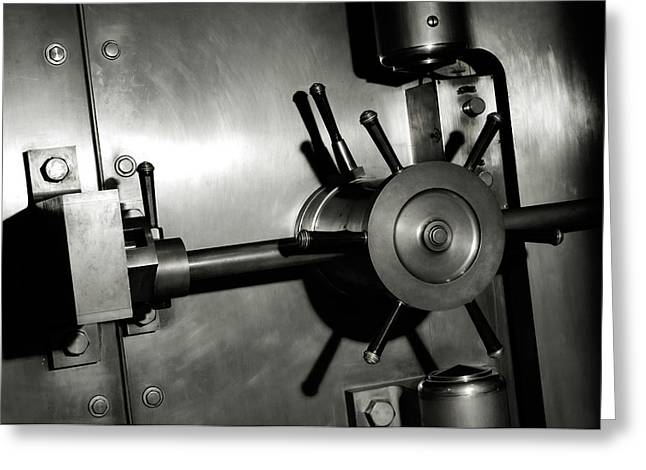 Vault Greeting Cards - Bank Vault Greeting Card by Oleksiy Maksymenko