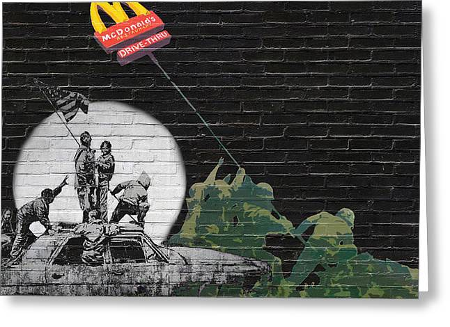 Banksy - The Tribute - New World Order Greeting Card