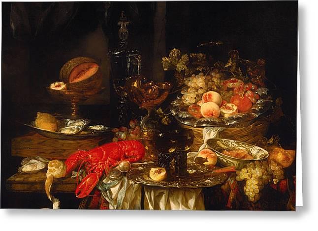 Banquet Still Life Greeting Card