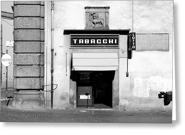 Bar Tabacchi Greeting Card by Valentino Visentini