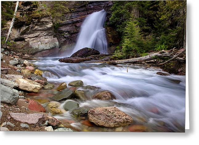 Baring Falls Greeting Card by Jack Bell