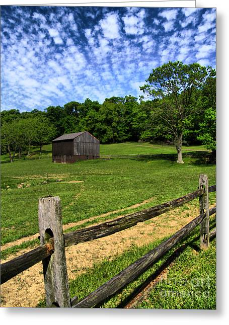 Barn At Hartwood Acres Greeting Card by Amy Cicconi
