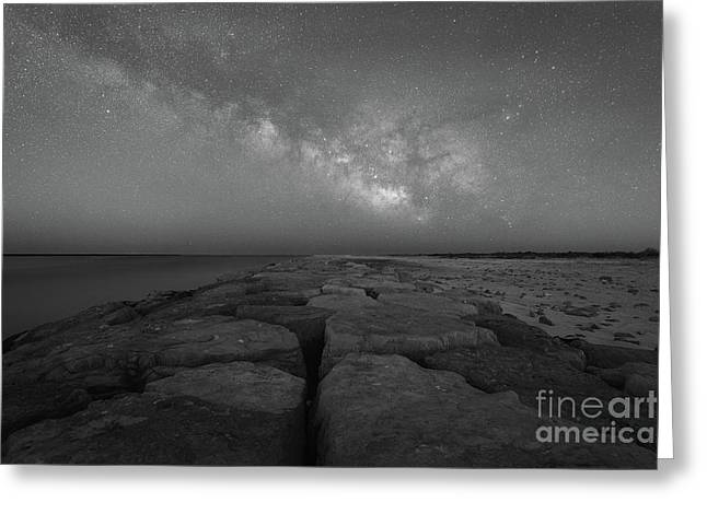 Barnegat Jetty Milky Way Rising Greeting Card by Michael Ver Sprill