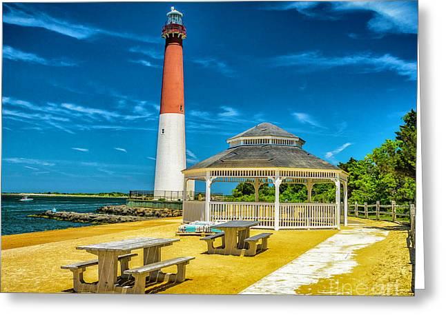 Barnegat Lighthouse Park Greeting Card by Nick Zelinsky