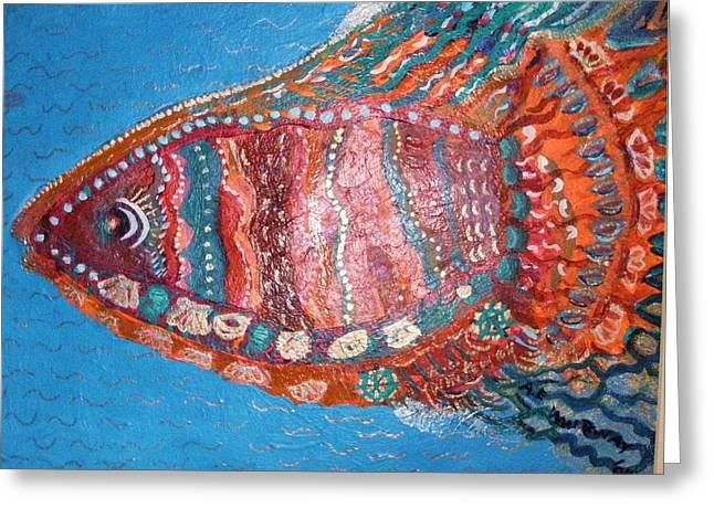 Barracuda Lite Greeting Card by Anne-Elizabeth Whiteway
