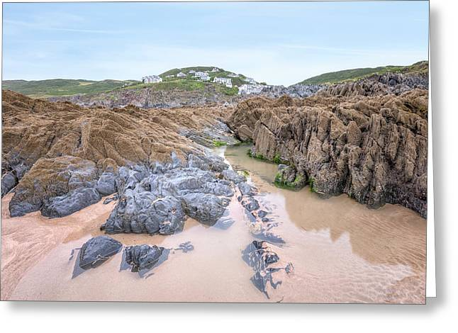 Barricane Beach - England Greeting Card