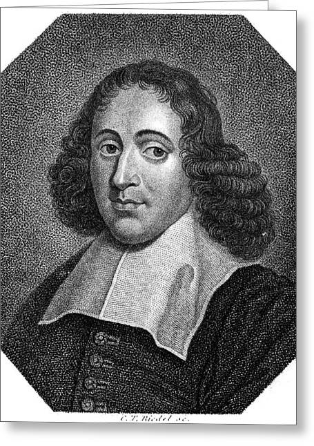 Collar Greeting Cards - Baruch Spinoza (1632-1677) Greeting Card by Granger