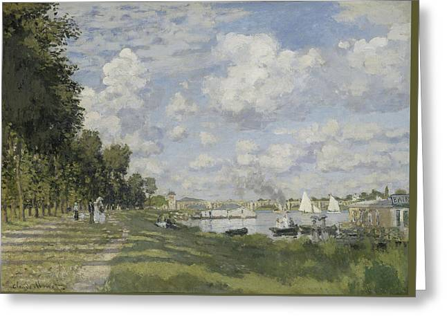 Bassin D'argenteuil Greeting Card by Claude Monet