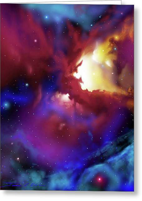 Bat Nebula Greeting Card