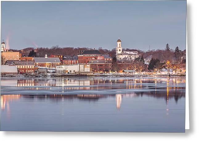 Bath Maine Panorama Greeting Card