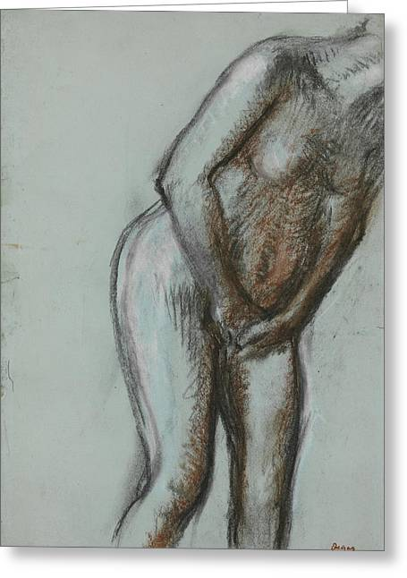 Bather  Greeting Card by Edgar Degas
