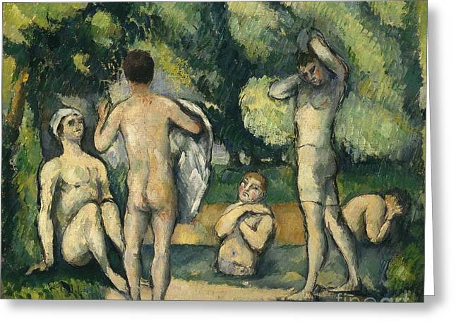 Bathers Greeting Card by Paul Cezanne