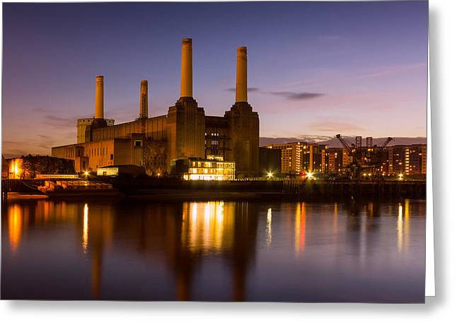 Battersea Power Station Greeting Card by Ian Hufton