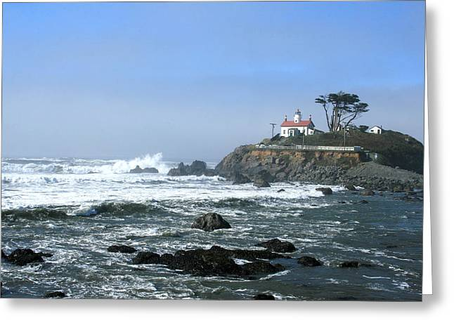Battery Point Lighthouse Crescent City 1 Greeting Card by Larry Darnell
