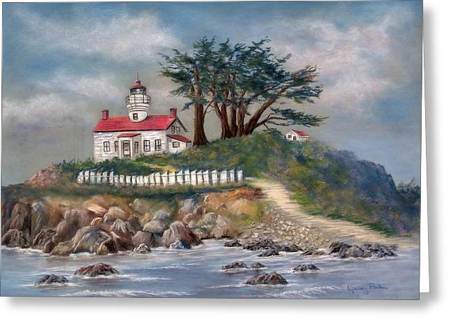 155 Greeting Cards - Battery Point Lighthouse Greeting Card by Lynne Parker
