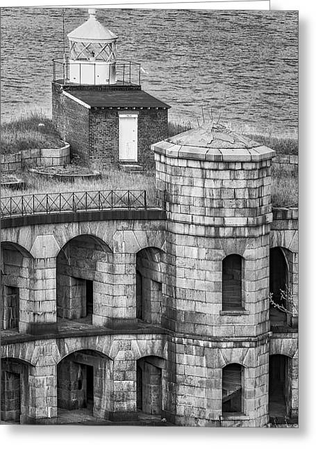 Greeting Card featuring the photograph Battery Weed At Fort Wadsworth Nyc by Susan Candelario