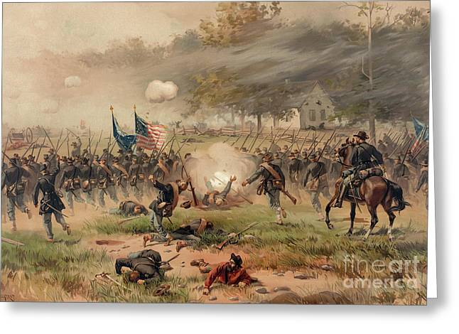 Battle Of Antietam Greeting Card by Thure de Thulstrup
