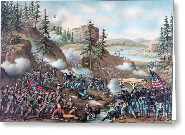 Battle Of Chattanooga Greeting Card by American School
