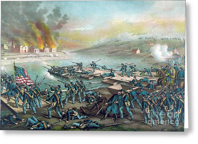 Battle Of Fredericksburg, 1862 Greeting Card by Science Source