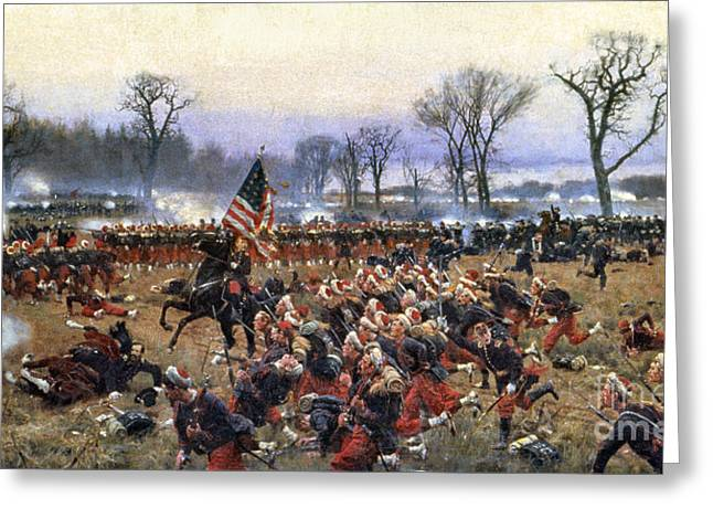 Soldiers Greeting Cards - Battle Of Fredericksburg Greeting Card by Granger